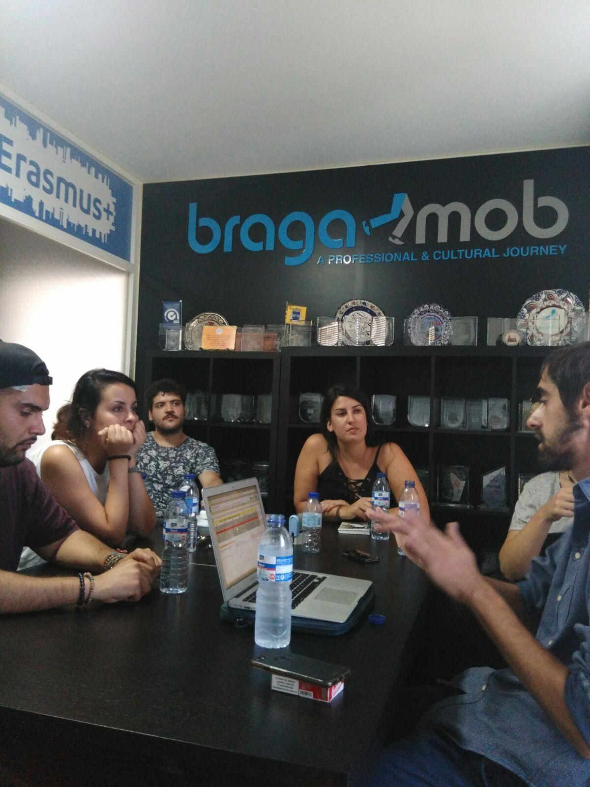 Llegada Braga Galeuropa Mestura bragamob