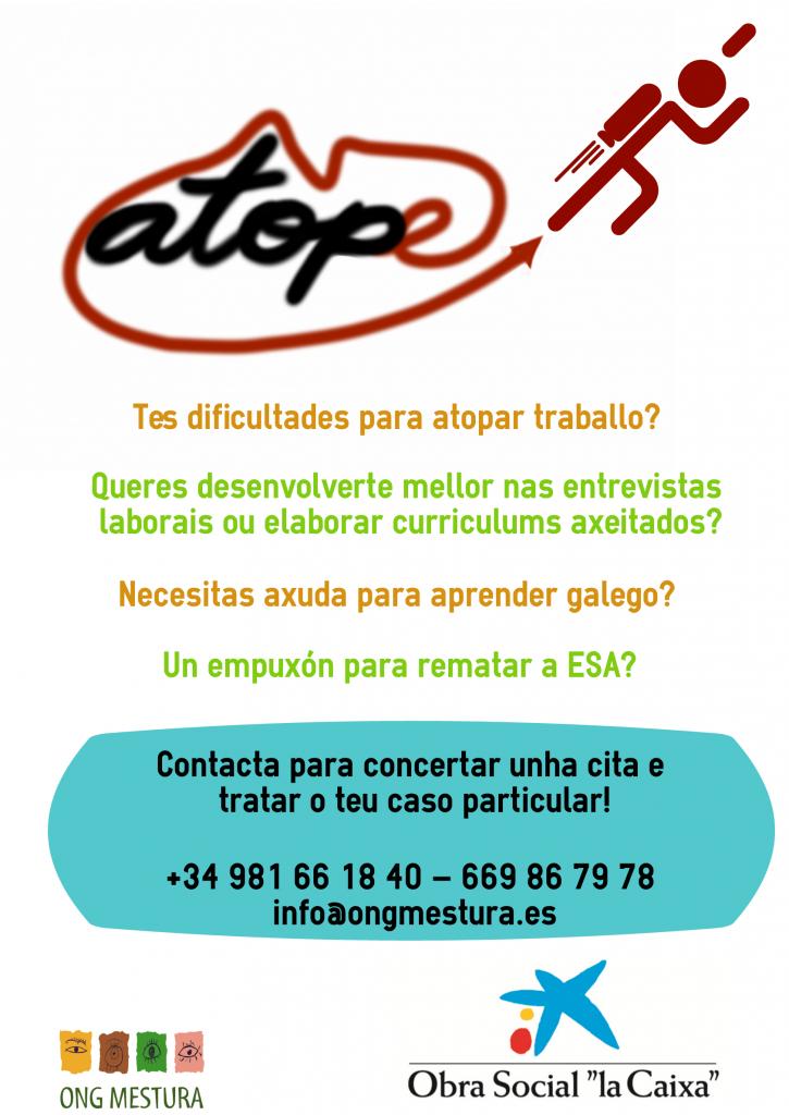 Atope, ONG Mestura, Obra Social La Caixa, traballo, trabajo, entrevista