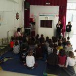 Colegio el Graxal, obra de teatro, novos veciños, mestura, sensibilizacion, titeres,