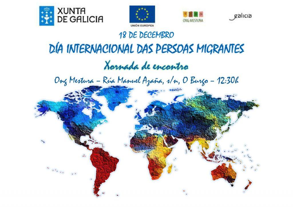 Dia internacional do migrante, ong mestura, xunta de galicia, gyemo,