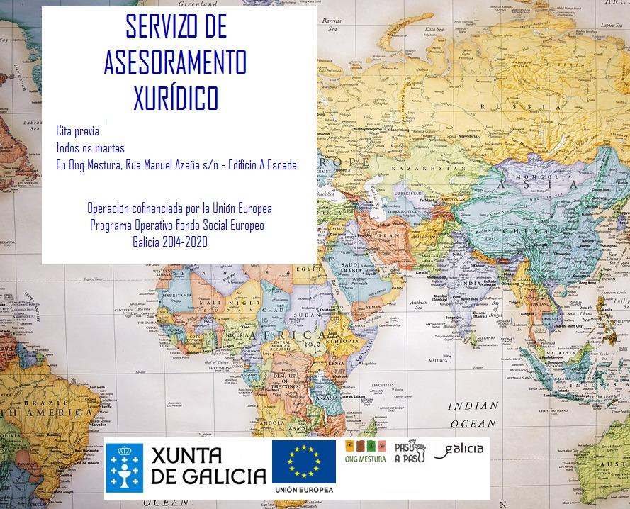 Cartel Servicio asesoramiento jurídico ong mestura cita previa