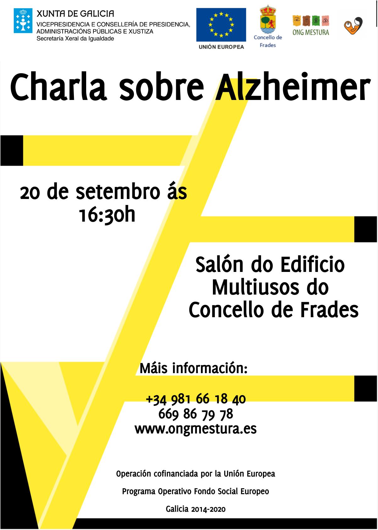 cartel, alzheimer, Frades, ong mestura, charla
