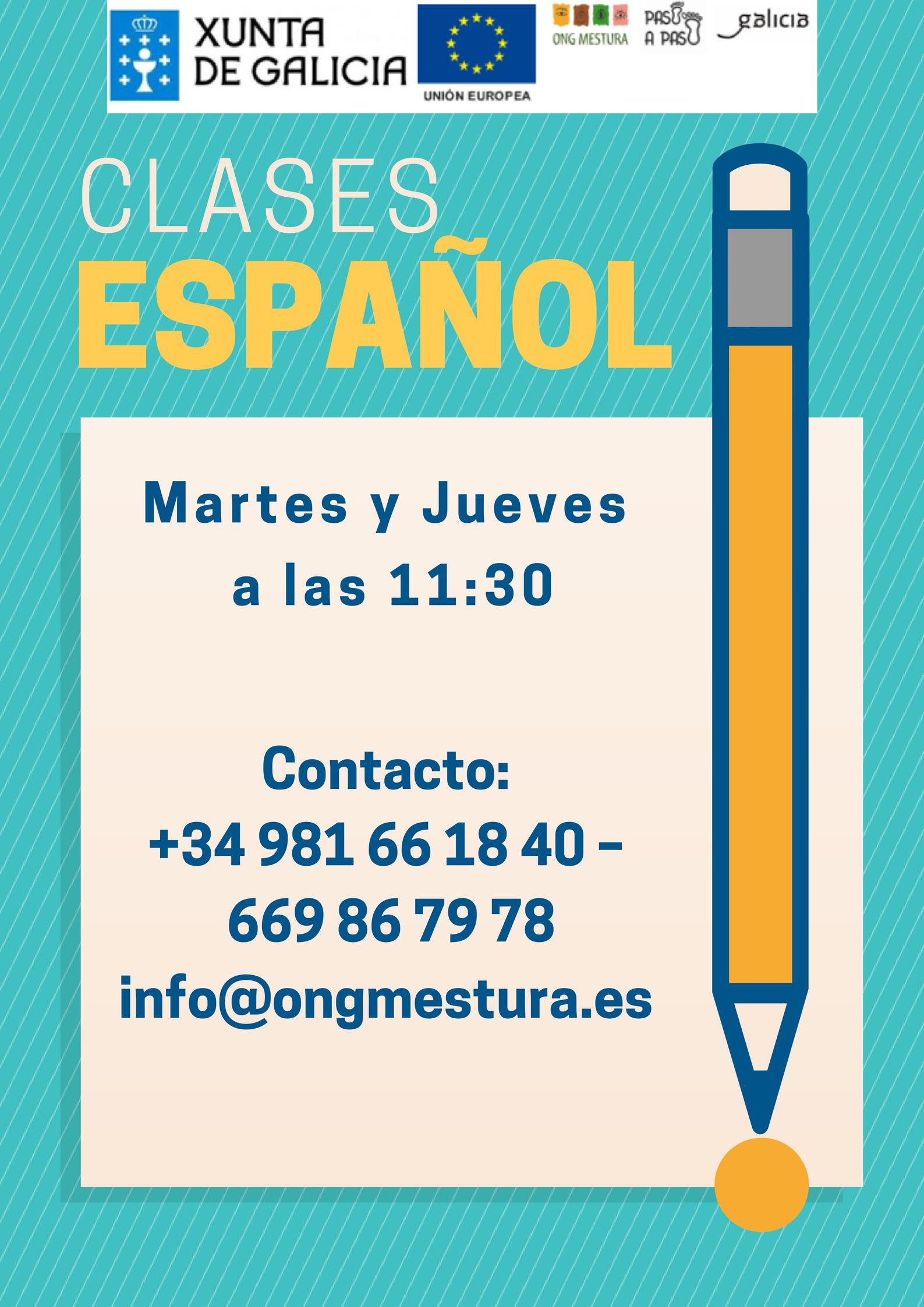 Clases Español, As nosas linguas, ong mestura,
