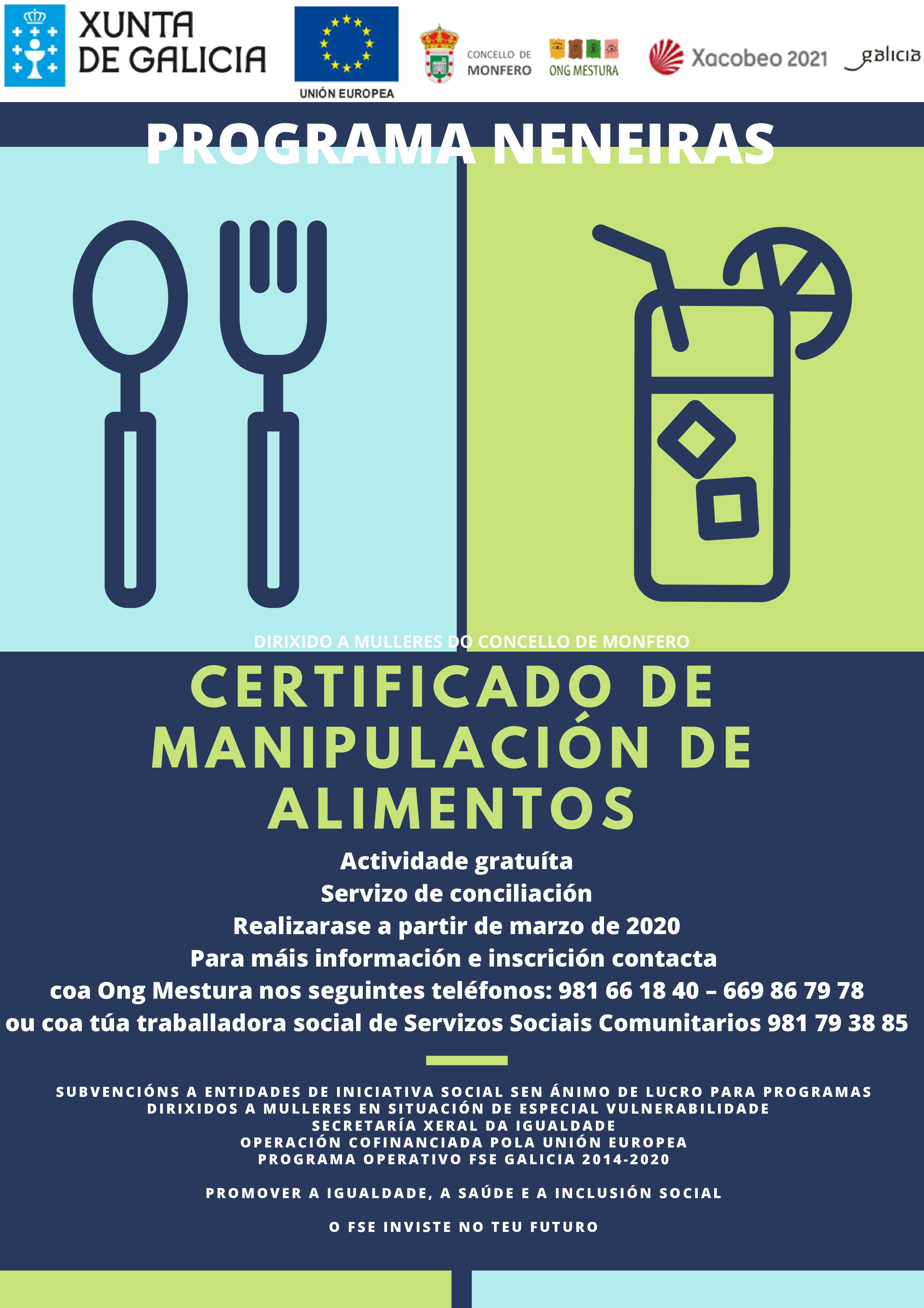 Monfero-Certificado-Manipulacion-Alimentos, ong mestura