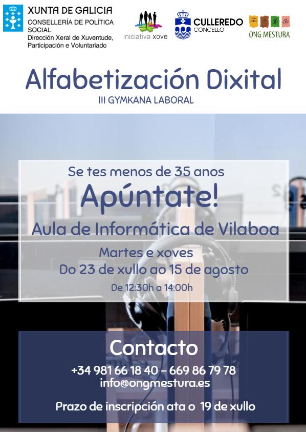 cartel alfabetizacion dixital, digital, ong mestura, formacion