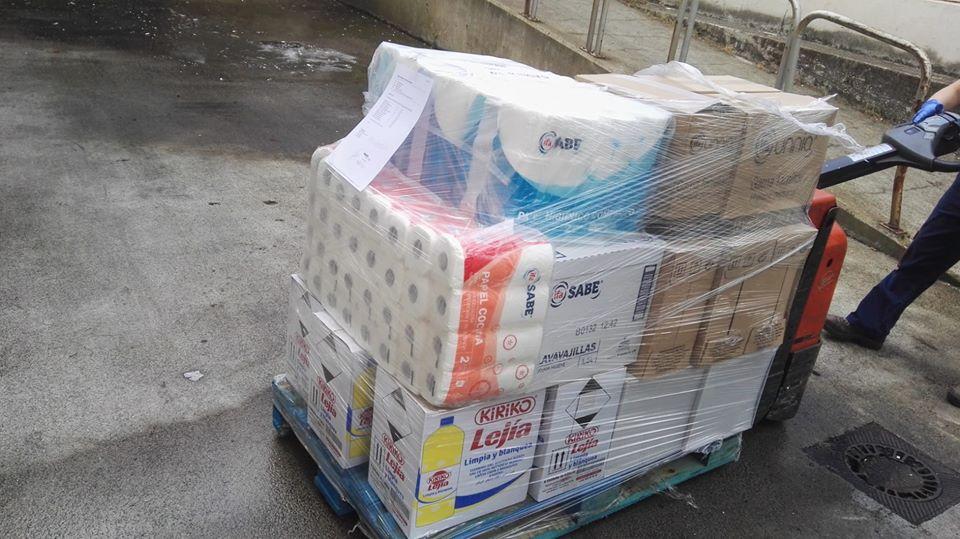 Gadis, donacion, ong mestura, limpieza, productos